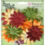 Flora Doodles Small Fabric Daisy Layers - Autumn