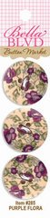 Bella Blvd Buttons - Purple Flora
