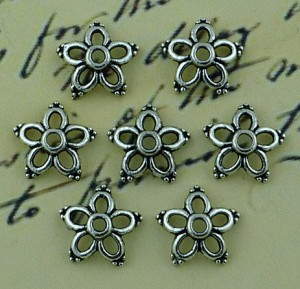 WOC Flower Shape Metal Bead Caps JW-00025