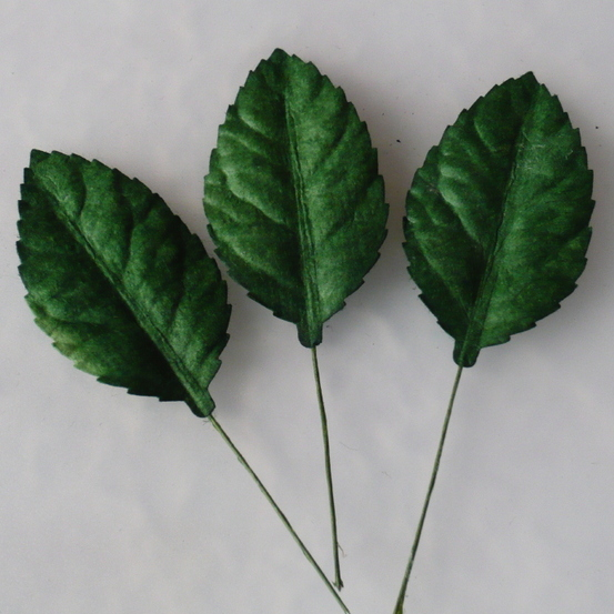 WOC Green Rose Leaves 1.5 in