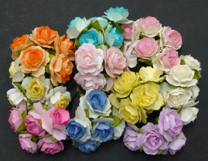 WOC mixed color tea roses 1in