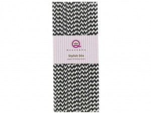 Stylish Stix Paper Drinking Straws - Licorice Chevron
